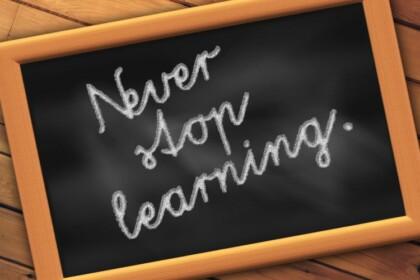 stop niet met leren